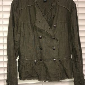 INC army green jacket
